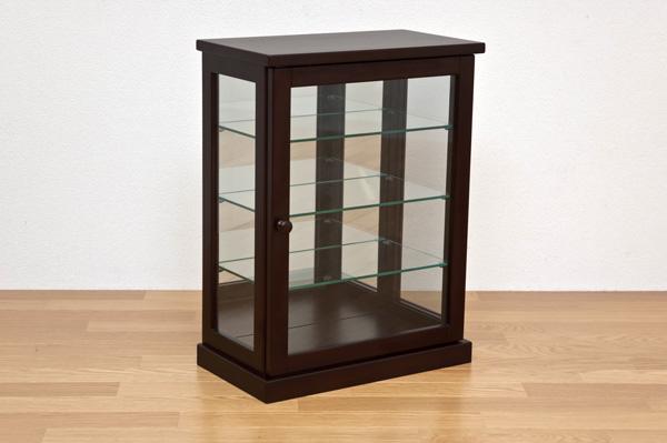 コレクションケース 縦型 ダークブラウン コレクションケース  木製