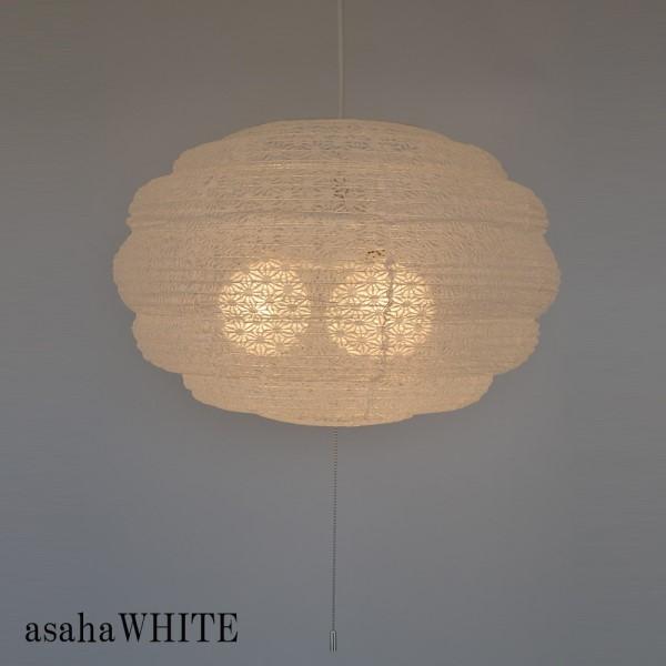 和風照明器具 行燈 お部屋に飾ると、可愛い 和風 天井照明 和風丸型3灯ペンダントライト MOCO 麻葉白