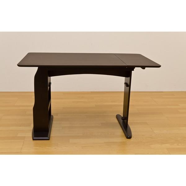 伸縮テーブル 木製テーブル 北欧 すぐに90幅→120幅に変身するテーブル!ダークブラウン