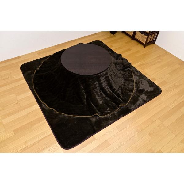 こたつ 布団 丸 円形!コタツ 掛け布団とラグ(敷き布団)セット 80cmの円型のコタツ用 ブラウン