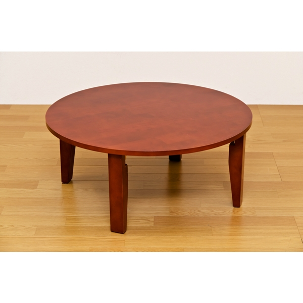 ラウンドテーブル レトロ風 ちゃぶ台 折りたたみテーブル 丸テーブル 75φ ナチュラル