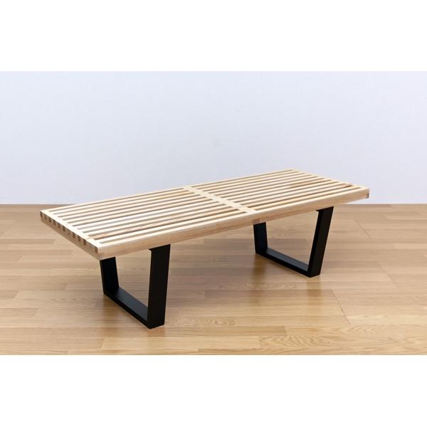 食卓長椅子 レトロデザイン 木製 長椅子 ベンチ センターテーブルとして使える!120幅 ナチュラル