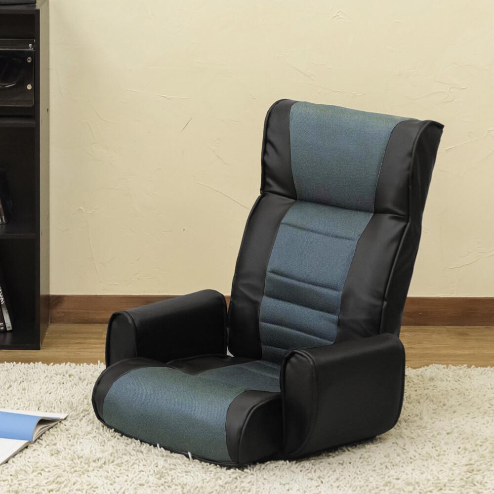 流行 生活 雑貨 メッシュ肘付座椅子7段 BK/BR