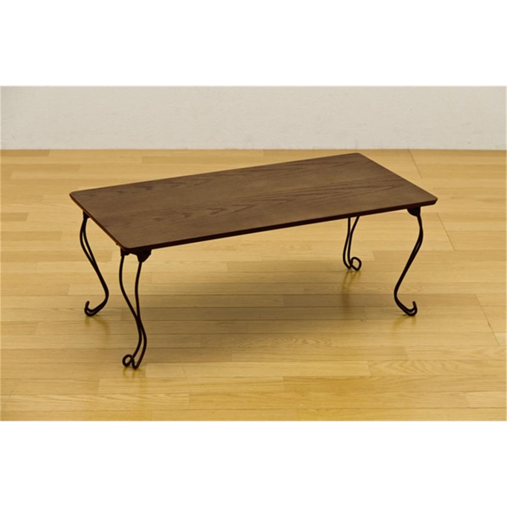 猫脚 table 長方形 折れ脚テーブル 角型 カラー:グリーン