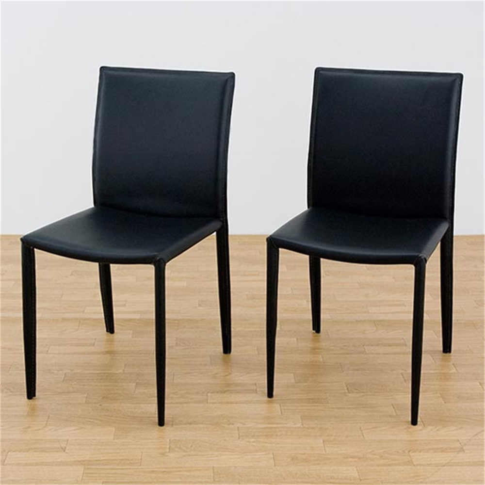 食卓椅子 いす 椅子 ダイニングチェア 2脚セット カラー:ブラック