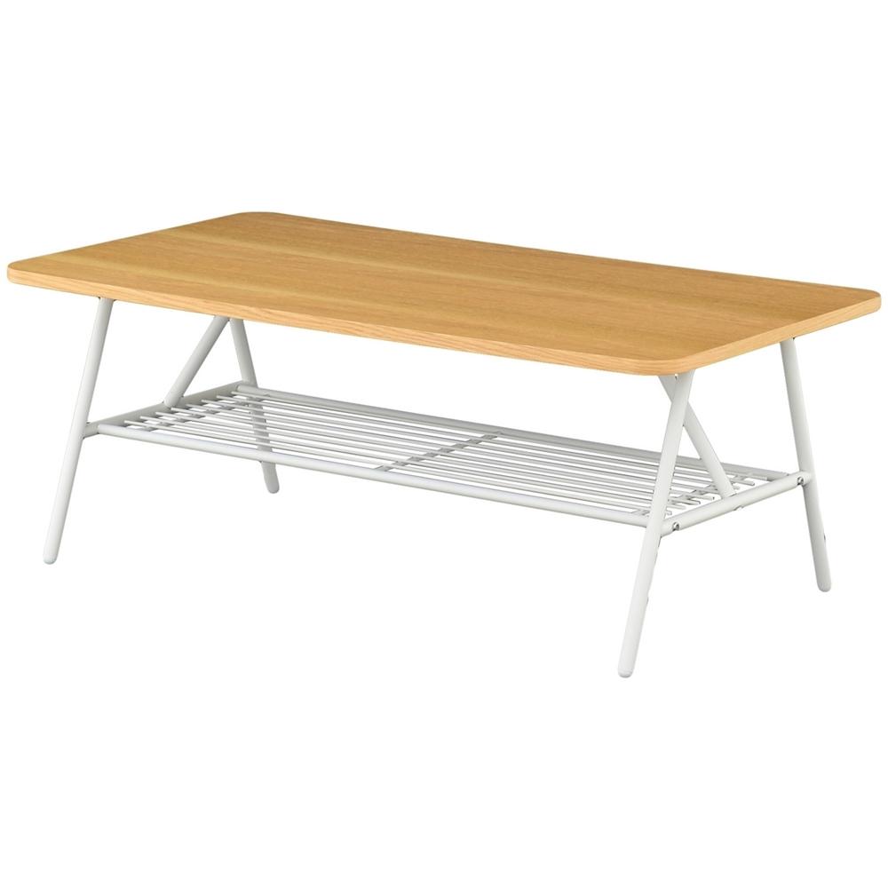 棚付テーブル(90cm幅) スクエアタイプ ナチュラル