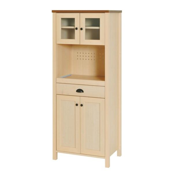 フレンチ カントリー 食器棚/レンジ台!!ツートンカラーがおしゃれ インテリア/家具 収納 引き出し キッチン収納 カップボード