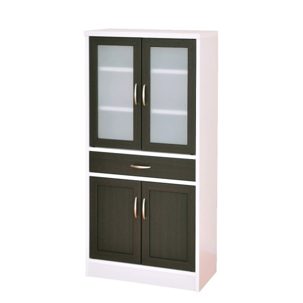 食器棚 ホワイトとブラウンのコントラストがスタイリッシュ!!インテリア/家具 収納家具 キッチン収納 シンプル オシャレ 120*60