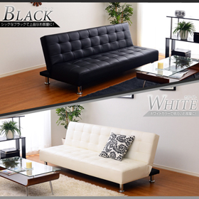 便利雑貨 リクライニングソファ フロアソファー オシャレなデザインのソファベッド!ホワイト