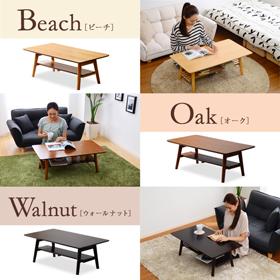 便利雑貨 ローテーブル テーブル つくえ 北欧調のオシャレな脚折れローテーブル!オーク