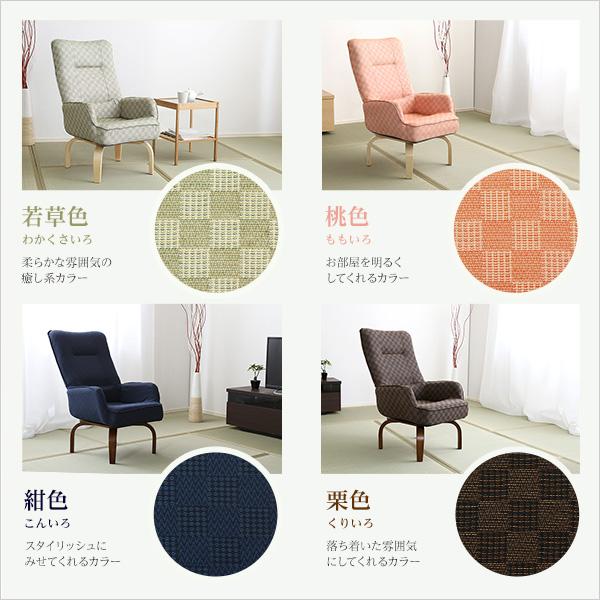 便利雑貨 360度回転高座椅子(ミドルハイタイプで腰のサポートに)3段階のリクライニング機能 紺色