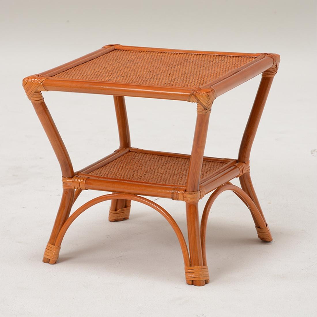 【送料無料】おしゃれ家具 木製 籐 テーブル 机