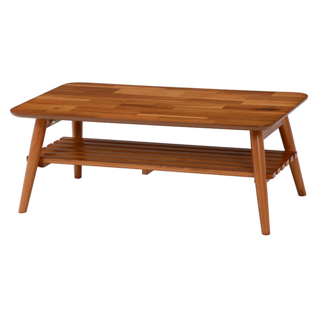送料無料 オシャレ 家具 完成品 折れ脚テーブル 折り畳み テーブル ローテーブル 机 Acacia