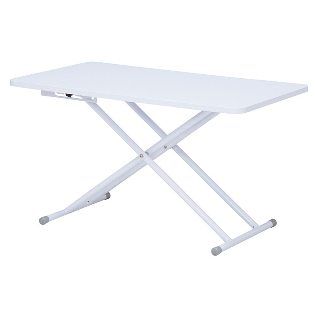 【送料無料】家具 リフティングテーブル 折れ脚 テーブル 机 ホワイト