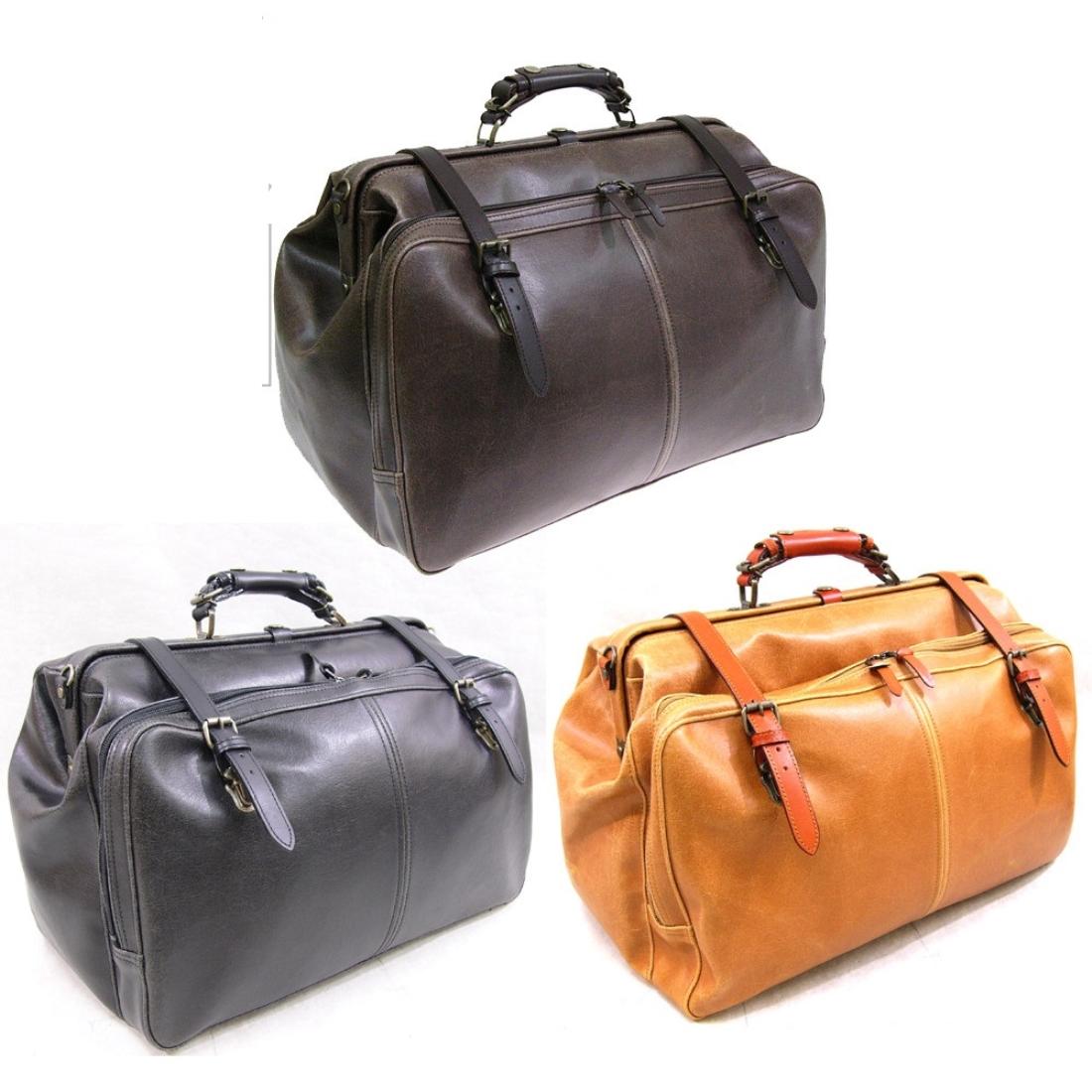 合皮アンティークフェイクレザー トラベル 旅行 ボストンバッグ ブラック 日本製革 鞄 ポケット ボストン トラベル 旅行 バッグ 本革/付属