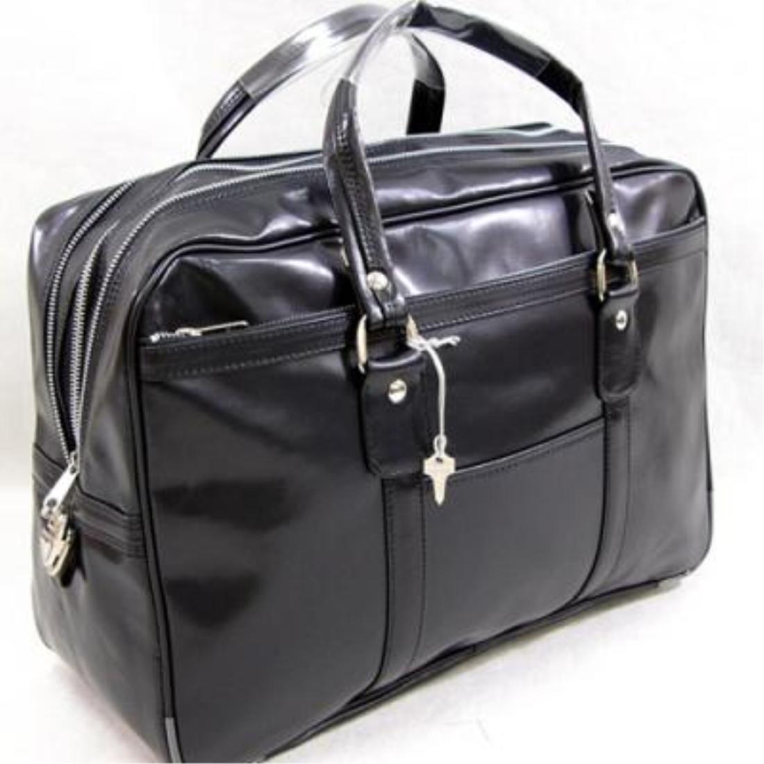 おしゃれ デザイン 日本 ボストン バッグ 鞄 銀行 ビジネス国産銀行ボストンバッグ ブラック