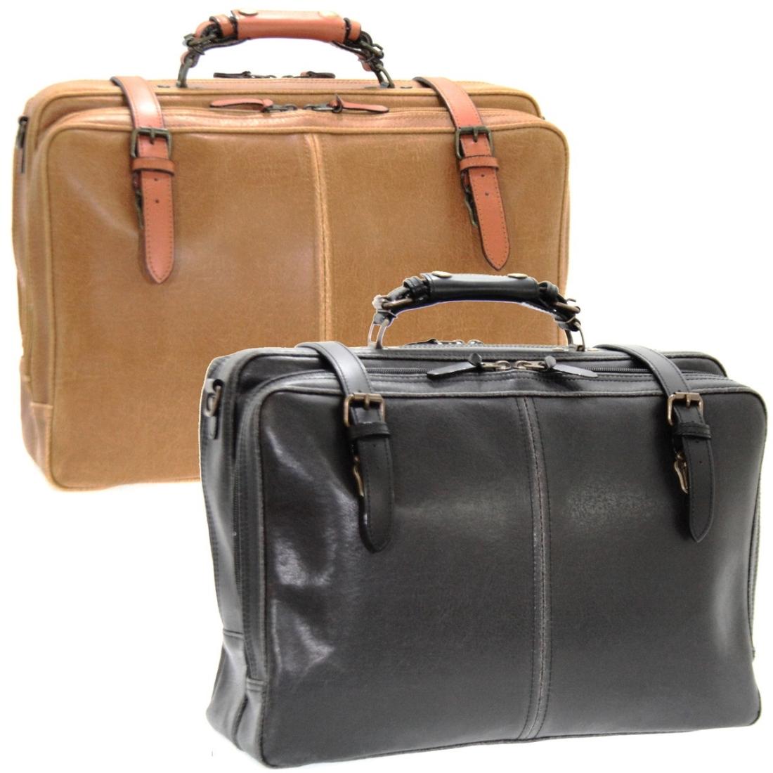 アンティーク調フェイクレザービジネス 仕事 バッグ ブラック 日本製革 ボストン バッグ ブルーム ビジネス 仕事 トラベル 旅行 バッグ ショルダー ベルト