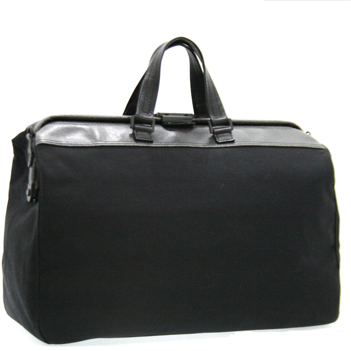 帆布ボストンバッグ ブラック(黒) 日本製日本 革 ボストン バッグ 鞄 バック トラベルバッグ 本革/付属