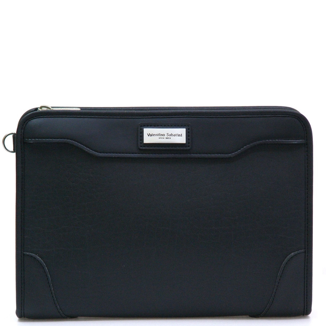 合皮フェイクレザー三角ポーチ ブラック 日本製ポーチ 日本 革 鞄 セカンド バッグ