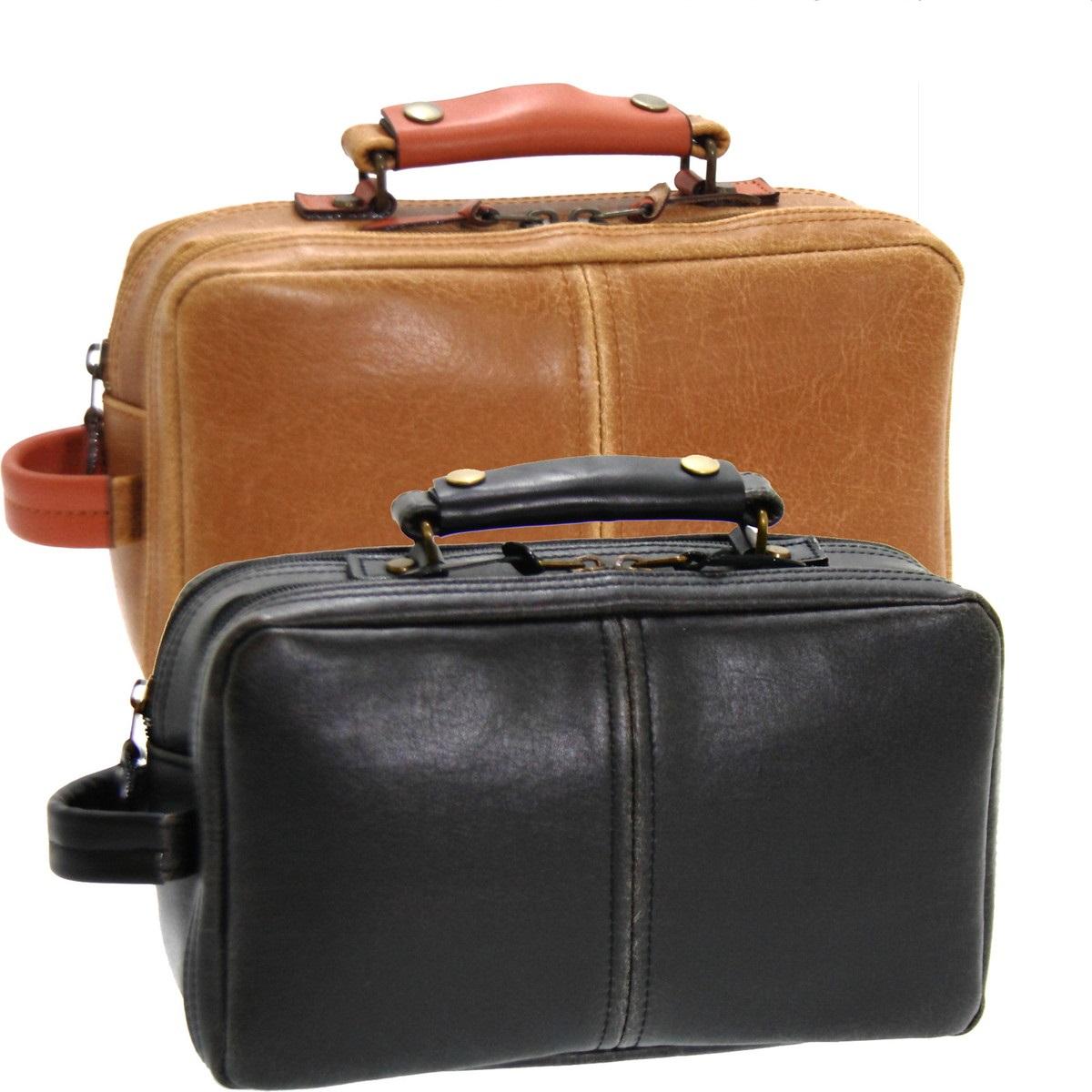おしゃれ デザイン 日本 革 鞄 セカンドバッグ 本革 付属 レトロ合成皮革アンティーク調フェイクレザーセカンドバッグ ブラック 日本製