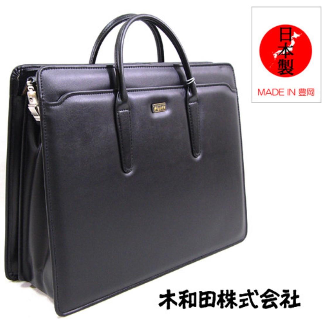 おしゃれ デザイン バッグ 日本 鞄 定番 ブリーフ ビジネス合皮ブリーフバッグ ブラック ビジネスバッグ 日本製