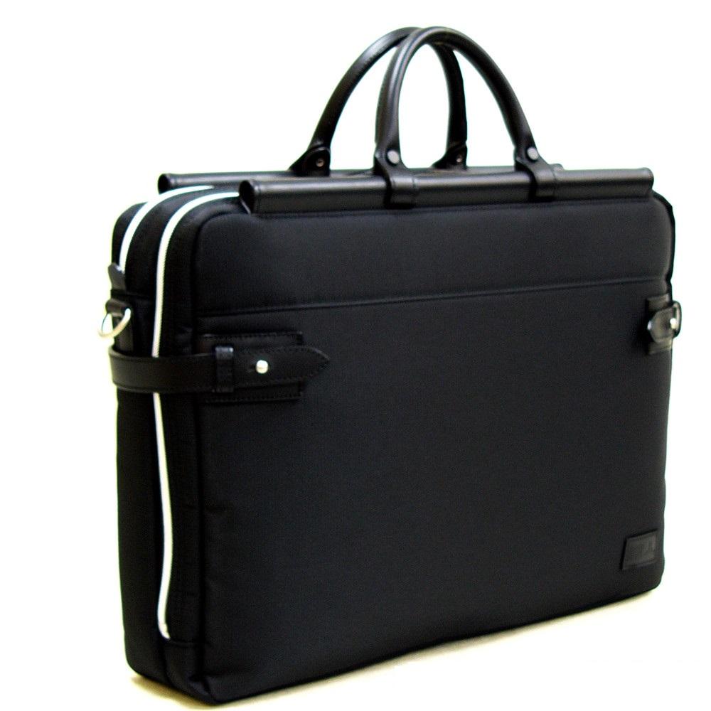 おしゃれ デザイン 日本 ビジネス 通勤カバン 通勤 バッグ 軽量 鞄 ショルダーベルト天棒ビジネスバッグW ブラック 日本製