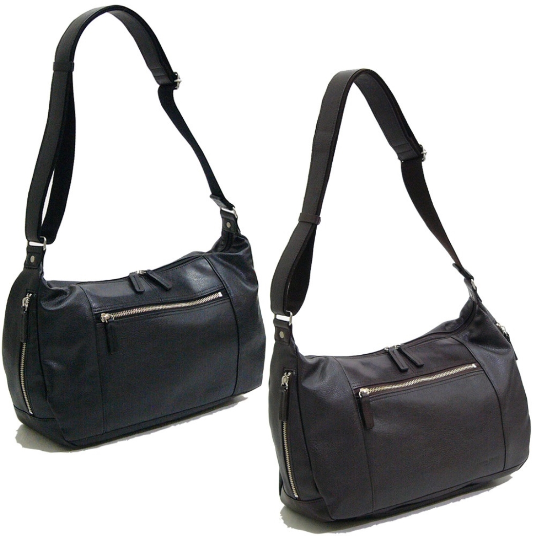 V.S.ショルダーバッグ ブラック 日本製日本 ショルダー バッグ 鞄 合成皮革