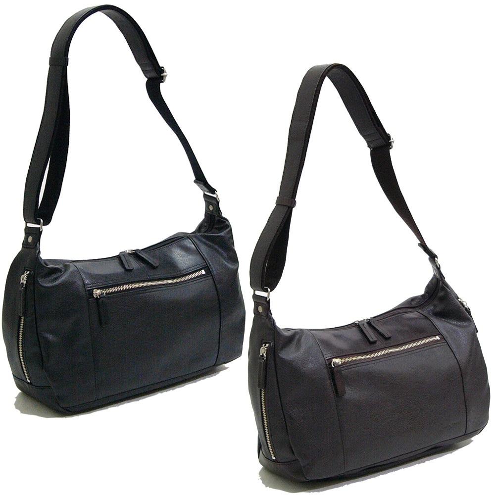 おしゃれ デザイン 日本 ショルダー バッグ 鞄 合成皮革V.S.ショルダーバッグ チョコ 日本製