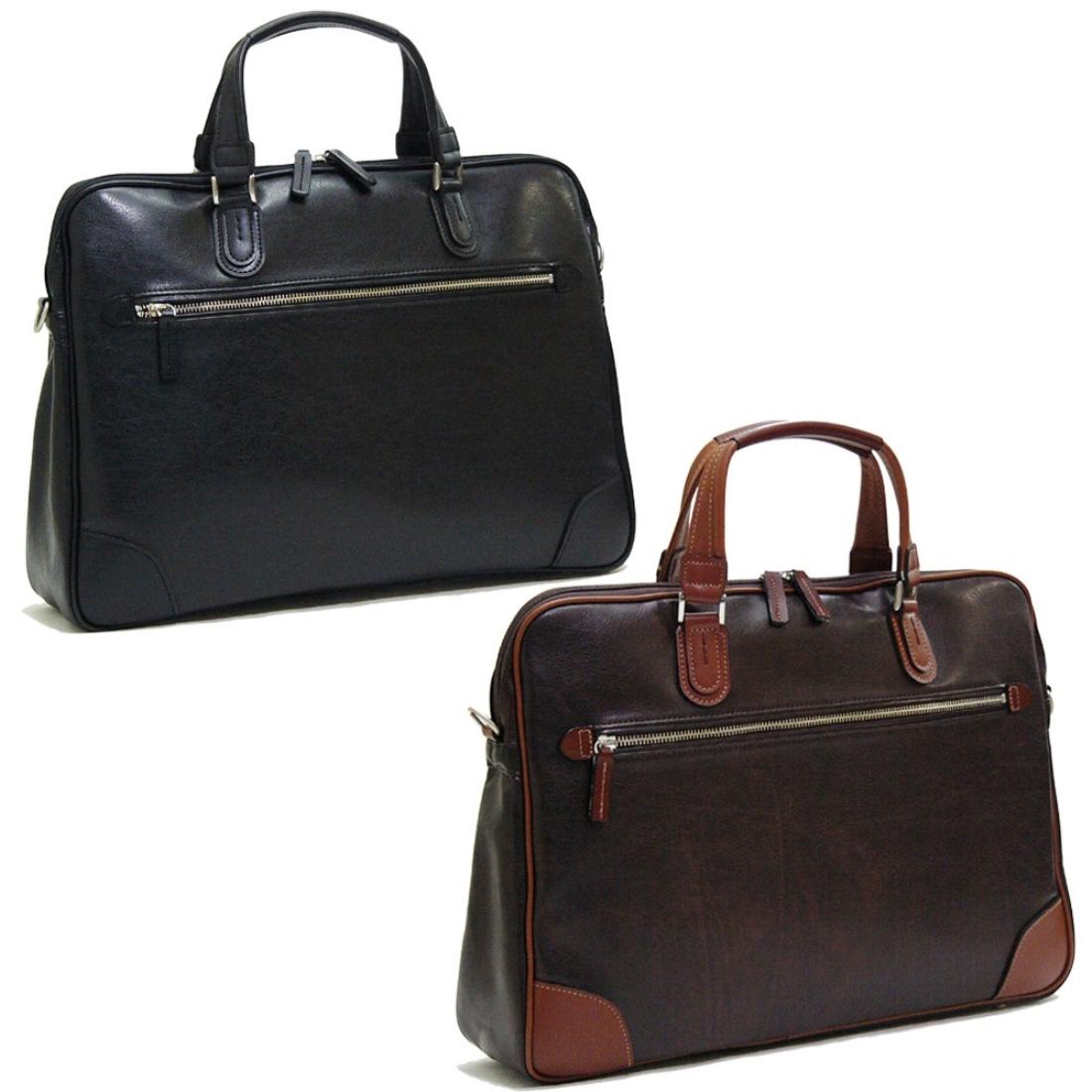 V.S.細マチビジネス 仕事 バグ チョコ 日本製日本 ビジネス 仕事 バッグ 鞄 付属/本革