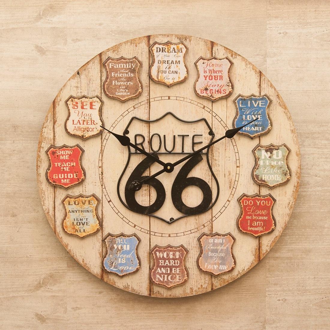 アンティーク 【壁掛時計】アンティーククロック[ROUTE66]<アメリカン雑貨>掛時計 壁 時計