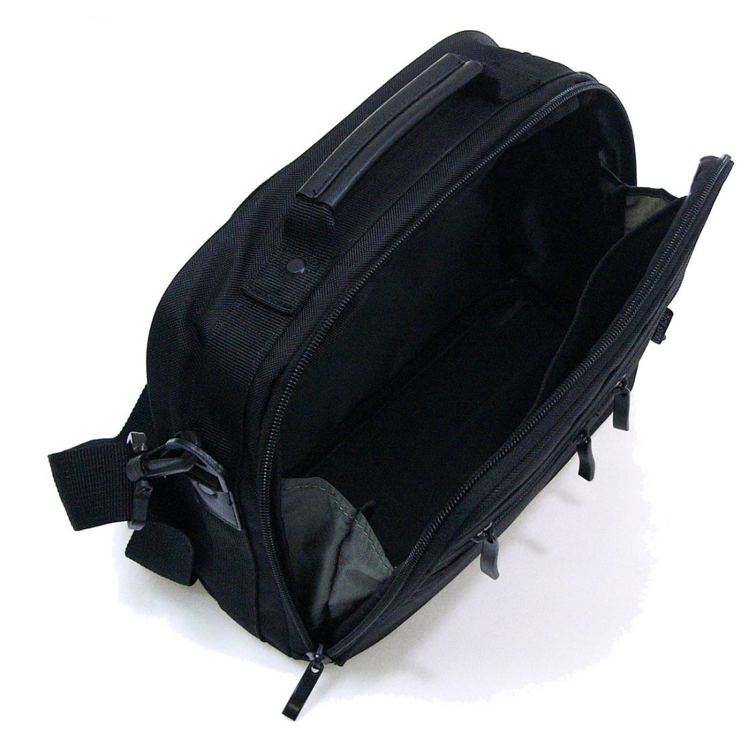 軽量ショルダーバック横型 ブラックショルダー ベルトバック 軽量nmvNO08w