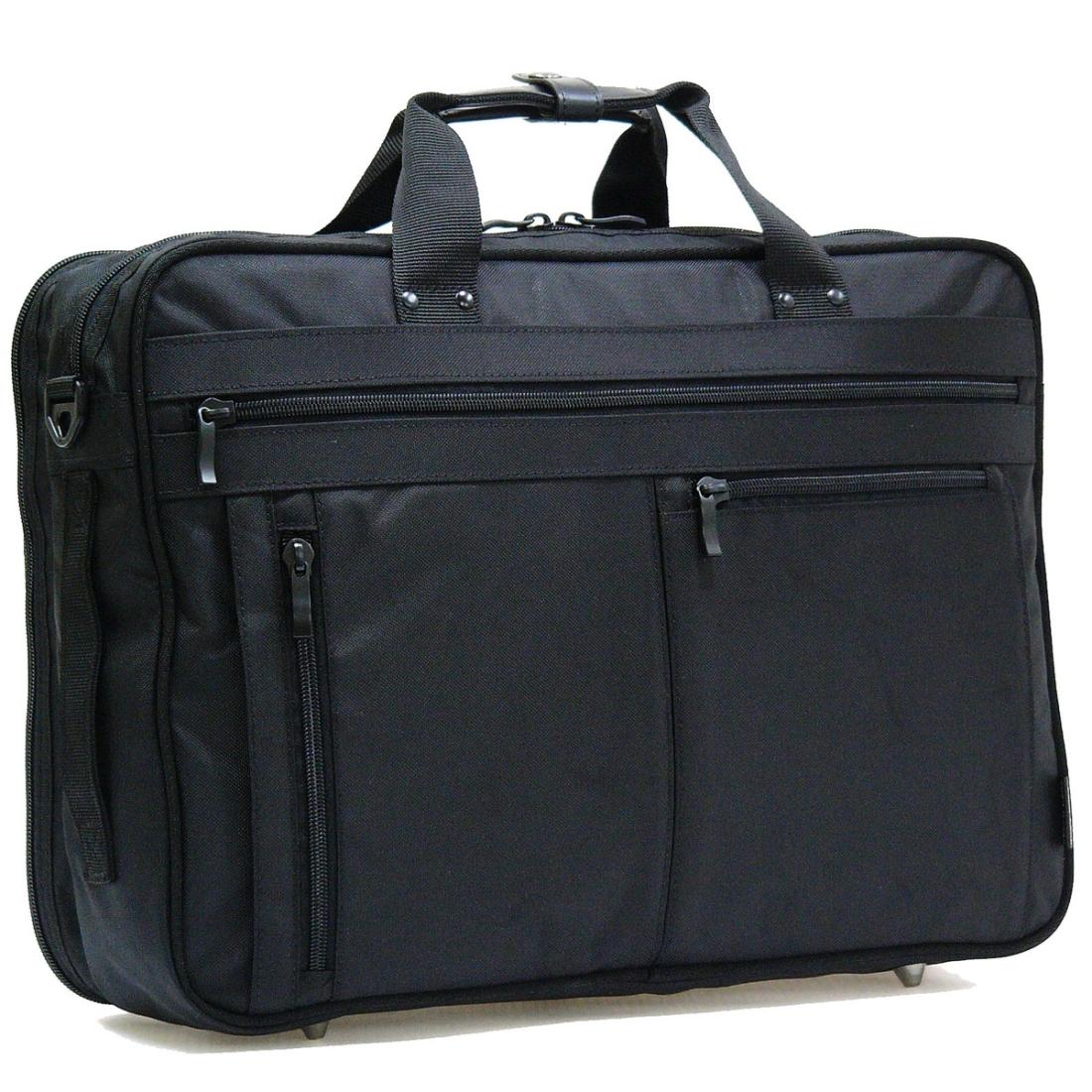 おしゃれ デザイン ビジネス 通勤カバン 通勤 バッグ 3WAY 軽量 強度 耐久性 軽量ビジネスバッグ3WAY W ブラック