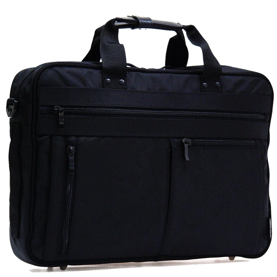 おしゃれ デザイン ビジネス 通勤カバン 通勤 バッグ 3WAY 軽量 強度 耐久性 軽量ビジネスバッグ3WAY S ブラック