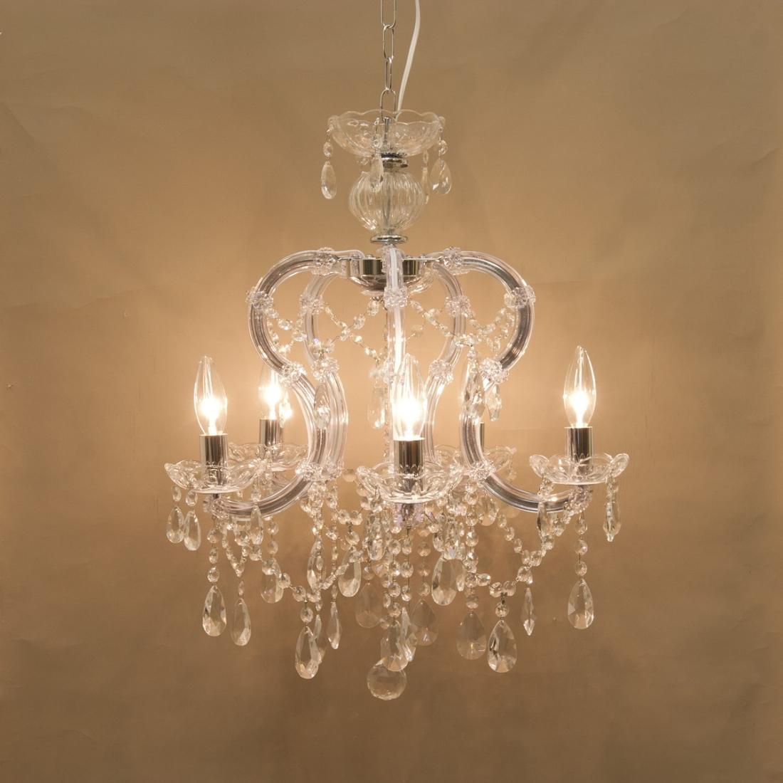 部屋 模様替え 洋風 クリスタルガラスシャンデリア[ギャラクシー] LED対応<E12/水雷型>クリスタルクリアー