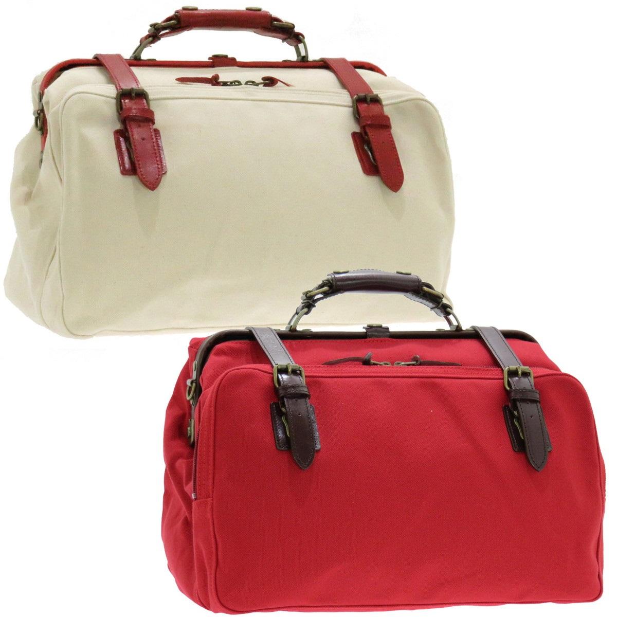 鞄 ポケット ボストン トラベル バッグ 旅行鞄 旅行 帆布OPダレスボストンバッグ小 トラベルボストンバッグ レッド 日本製 japan