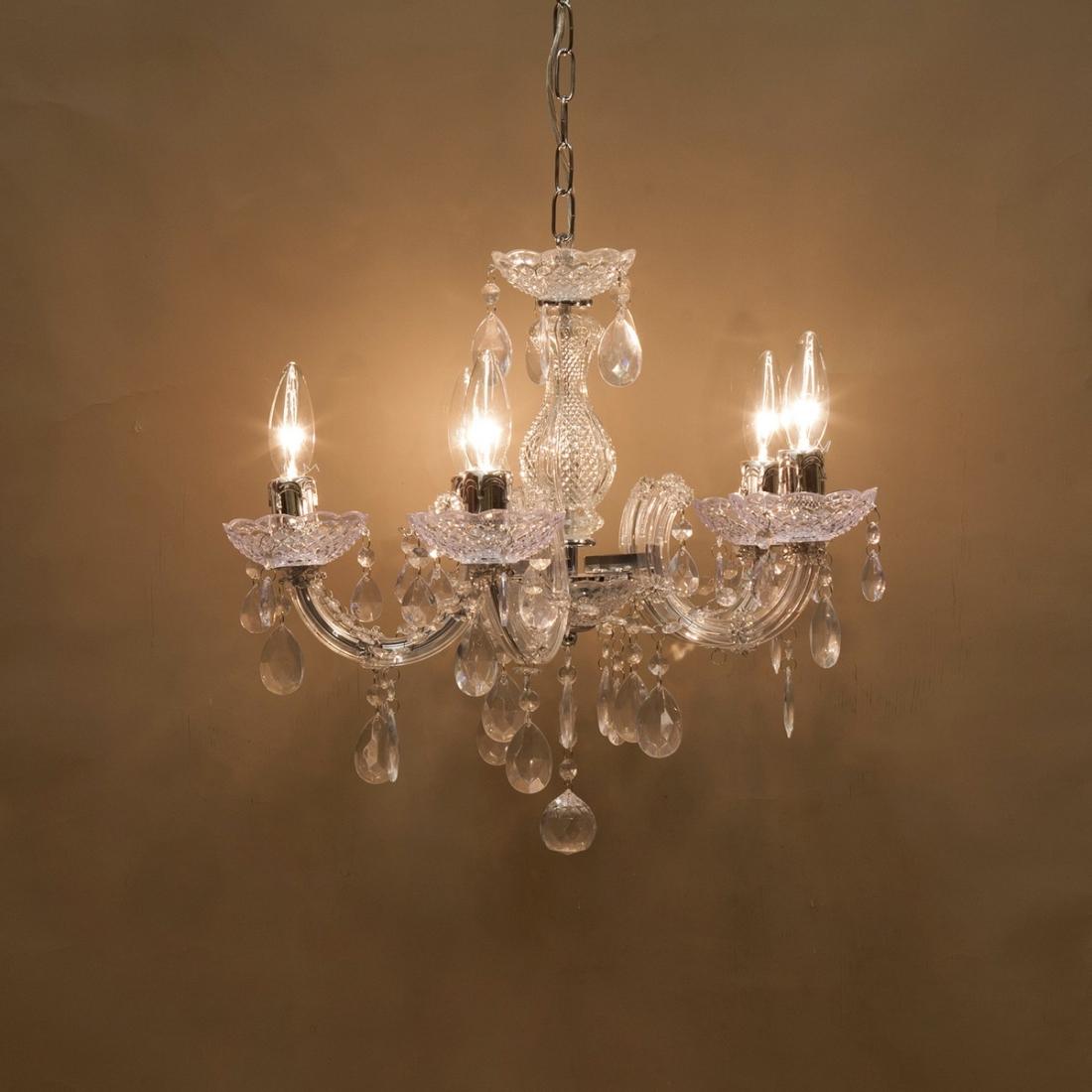 アンティーク 【吊照明】シャンデリア[ダイナスティー]LED対応<E12/水雷型>クローム