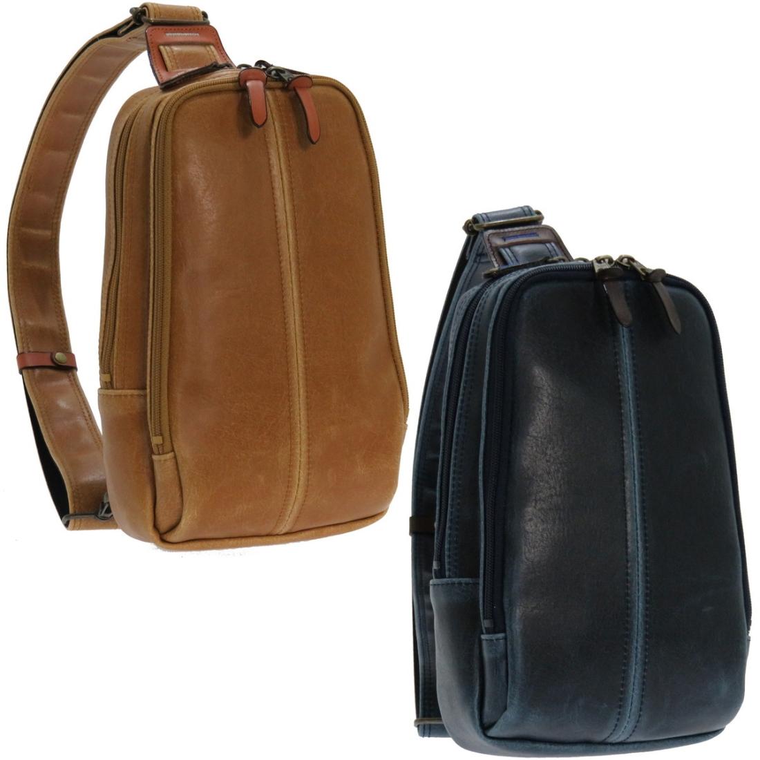 日本 PVC 鞄 ボディー バッグレトロボディーバッグ キャメル 日本製 japan