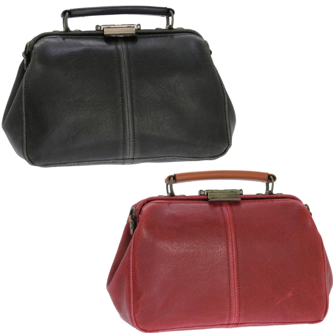 革 本 鞄 セカンドバッグ レトロ ダレスポーチ レッド 白化PVC 日本製 japan