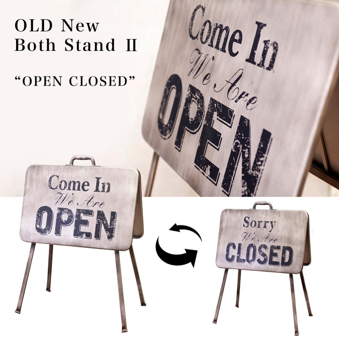 部屋 おしゃれ レトロ 家具 店舗 看板 立て看板 Both スタンドプレートII OPEN&CLOSED 両面タイプ 店舗用