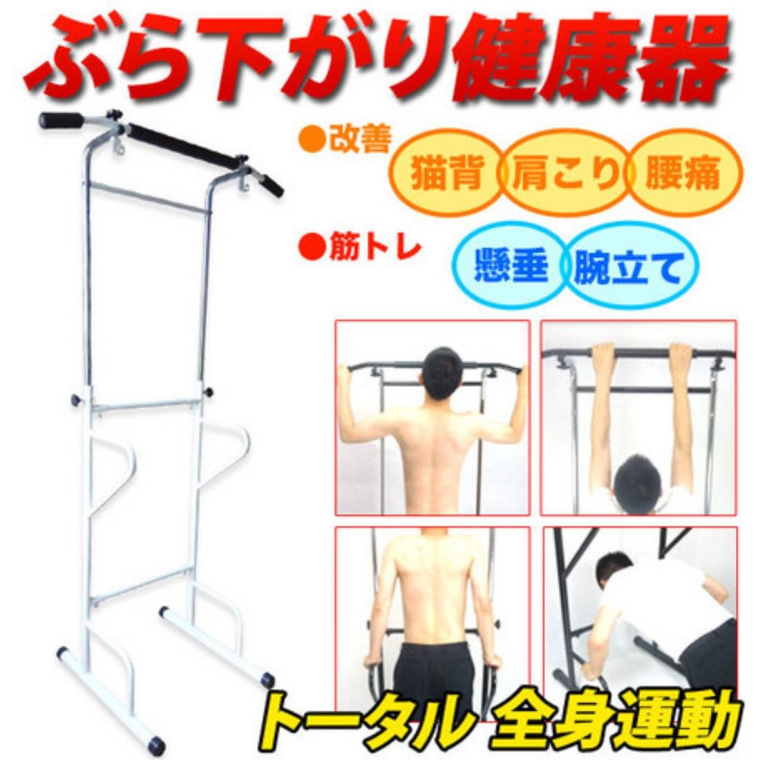 ぶら下がり健康器【白】ぶら下がり 健康器 筋力 運動 トレーニング エクササイズ