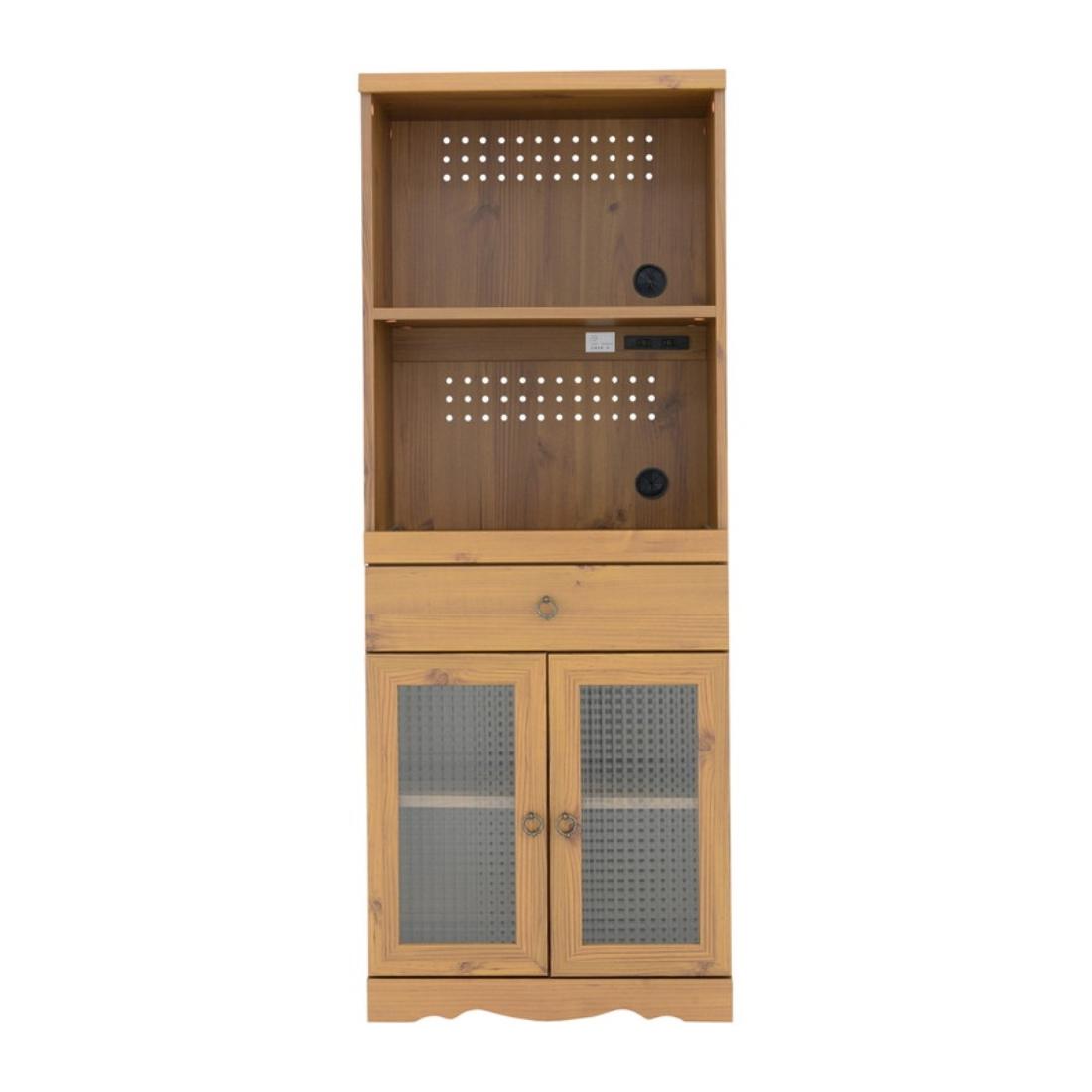 「送料無料」インテリア家具 キッチン収納 Bistro(ビストロ)食器棚 レンジ台(ハイタイプ・60cm幅) オシャレ