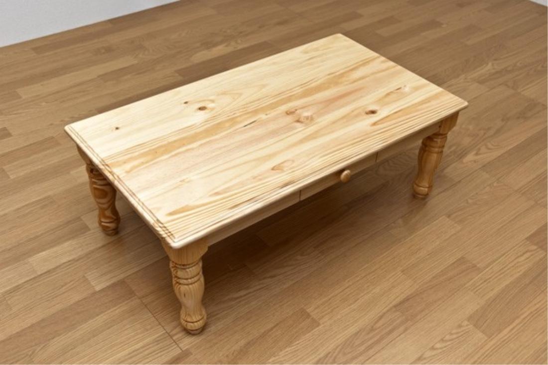 送料無料 オシャレ 家具 机 テーブル カントリー調パインセンターテーブル【離島・日時指定不可】