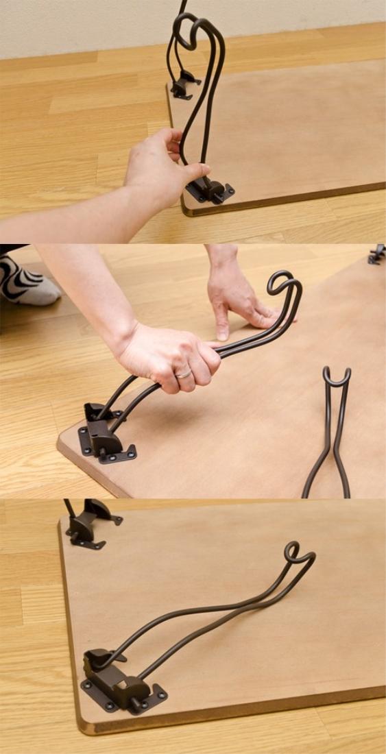 送料無料 オシャレ 家具 机 テーブル アンティーク折れ脚テーブル 角型