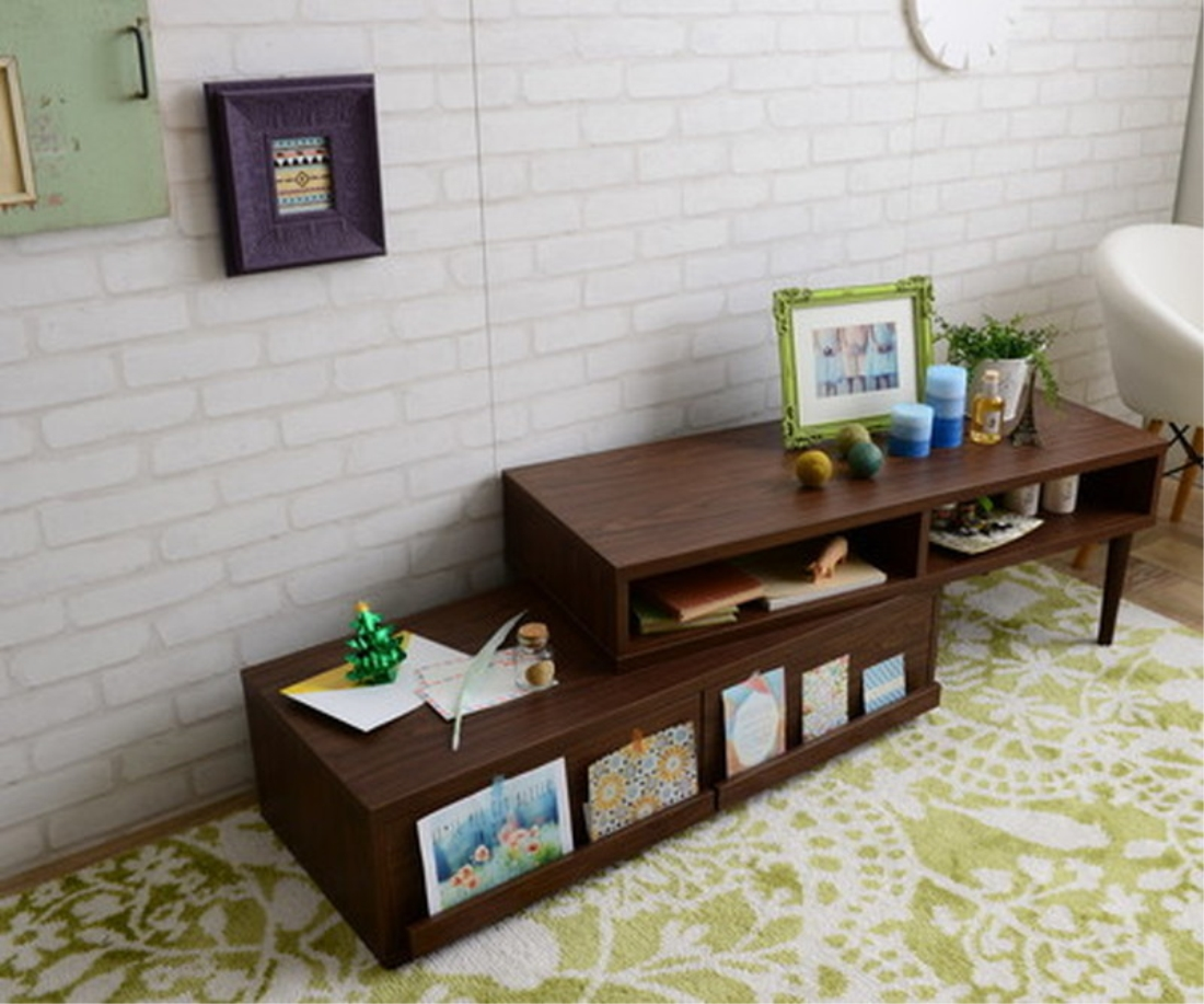 おしゃれ 家具 テレビ ボード TVボード FREX(フレックス)テレビ台 ローボード(木脚タイプ/105?190cm幅) オシャレ