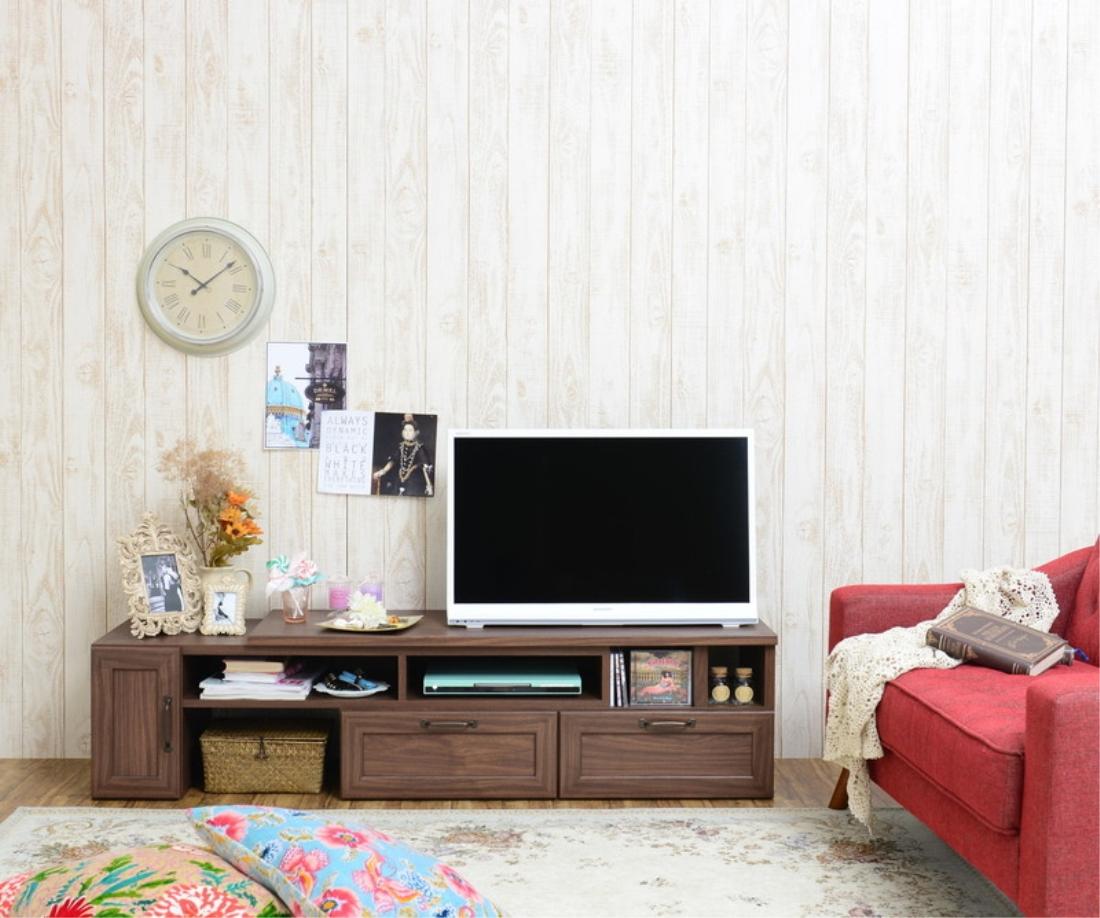 【送料無料】家具 テレビ ボード TVボード FREX(フレックス)テレビ台 ローボード(伸縮120?215cm幅) オシャレ