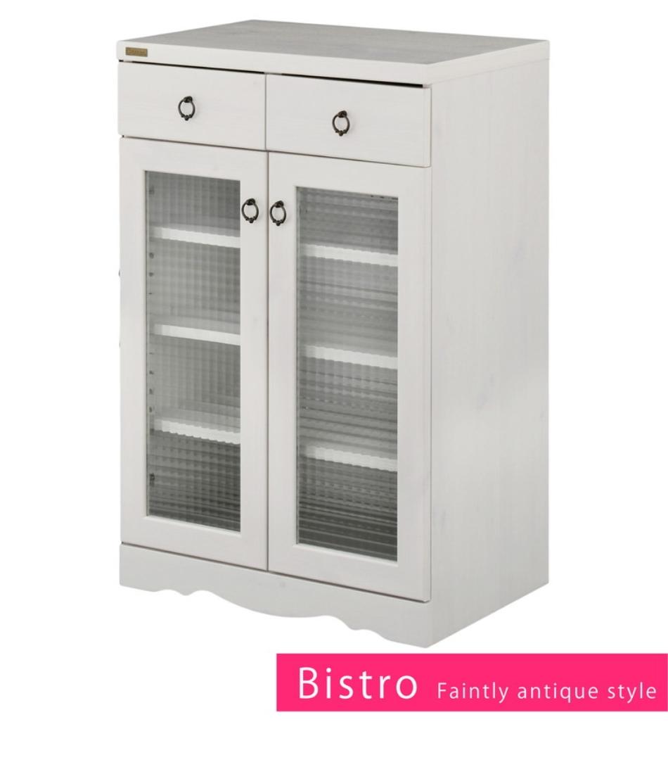 【送料無料】家具 飾り 収納 棚 Bistro(ビストロ)食器棚 キャビネット(引き出し付き・60cm幅) オシャレ