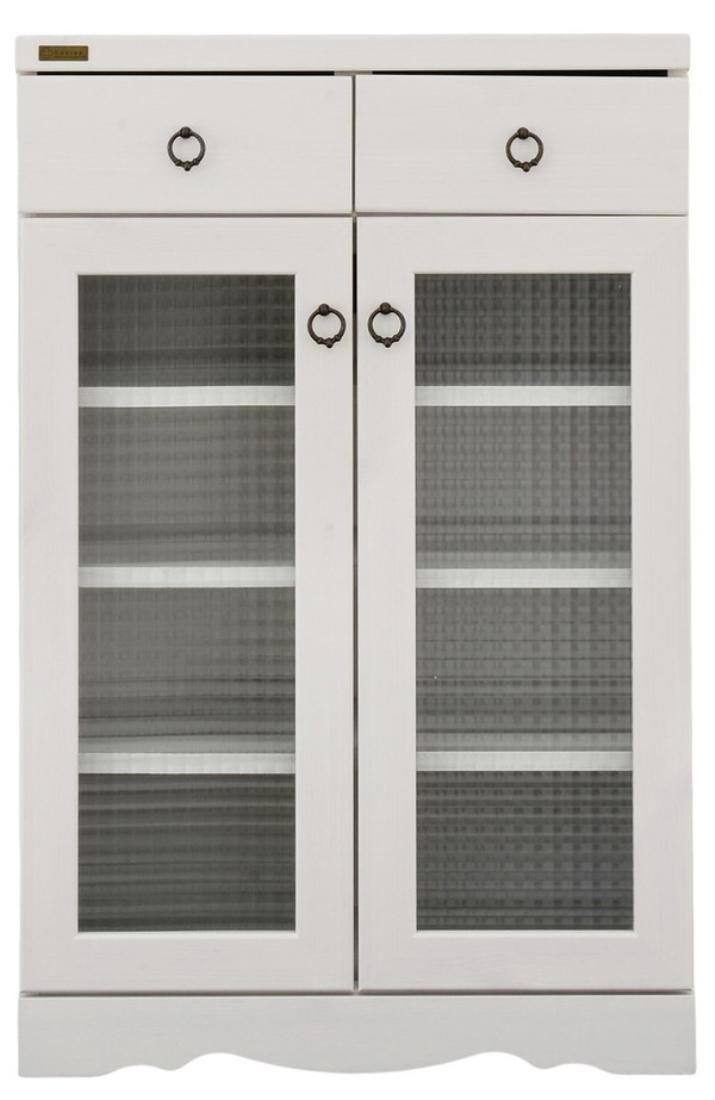 「送料無料」インテリア家具 飾り 収納 棚 Bistro(ビストロ)食器棚 キャビネット(引き出し付き・60cm幅) オシャレ