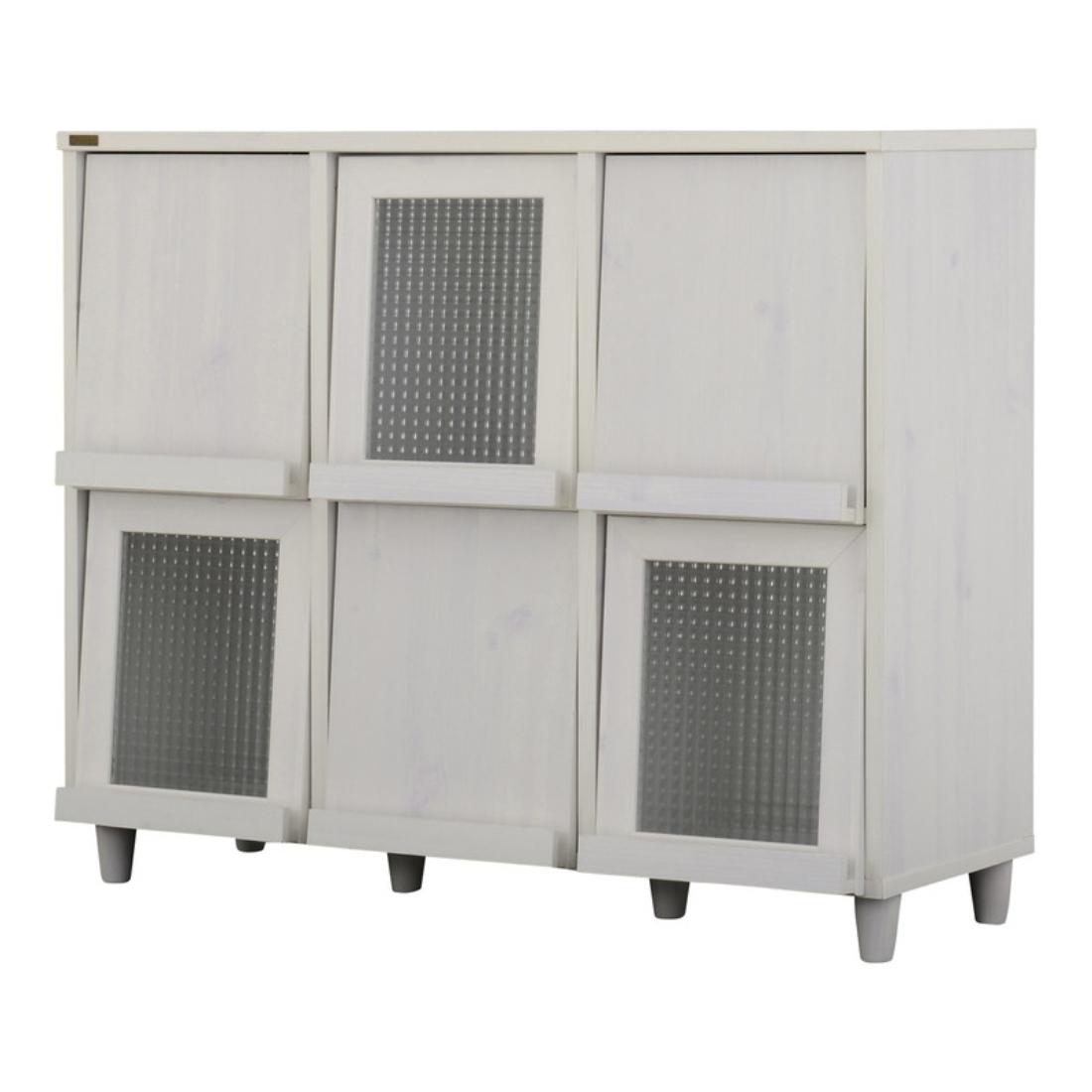 送料無料 オシャレ 家具 飾り 収納 飾り戸棚 NEFLAS(ネフラス)ディスプレイラック(120cm幅)WH/BR オシャレ