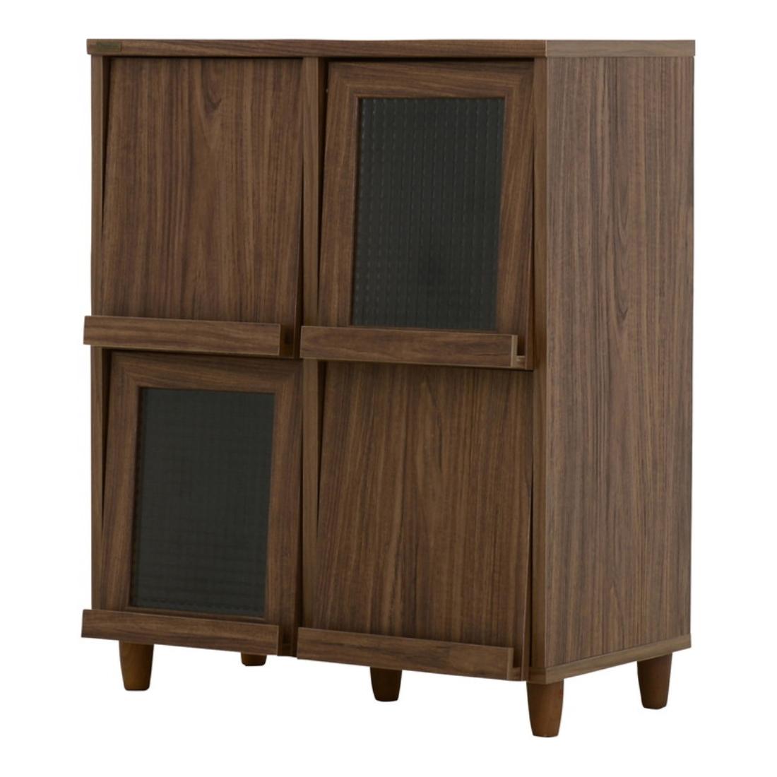 【送料無料】おしゃれ家具 飾り 収納 飾り戸棚 NEFLAS(ネフラス)ディスプレイラック(75cm幅)WH/BR オシャレ