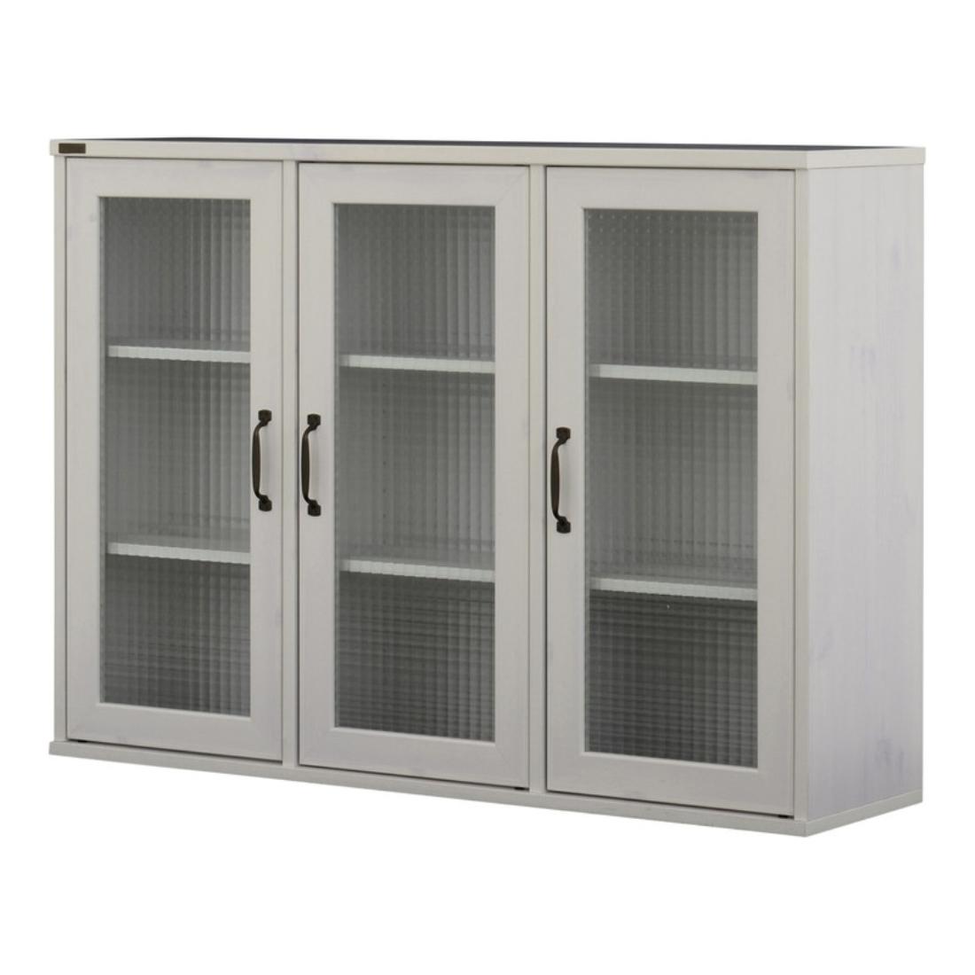 送料無料 オシャレ 家具 飾り 収納 棚 NEFLAS(ネフラス)ガラスキャビネット(120cm幅) オシャレ